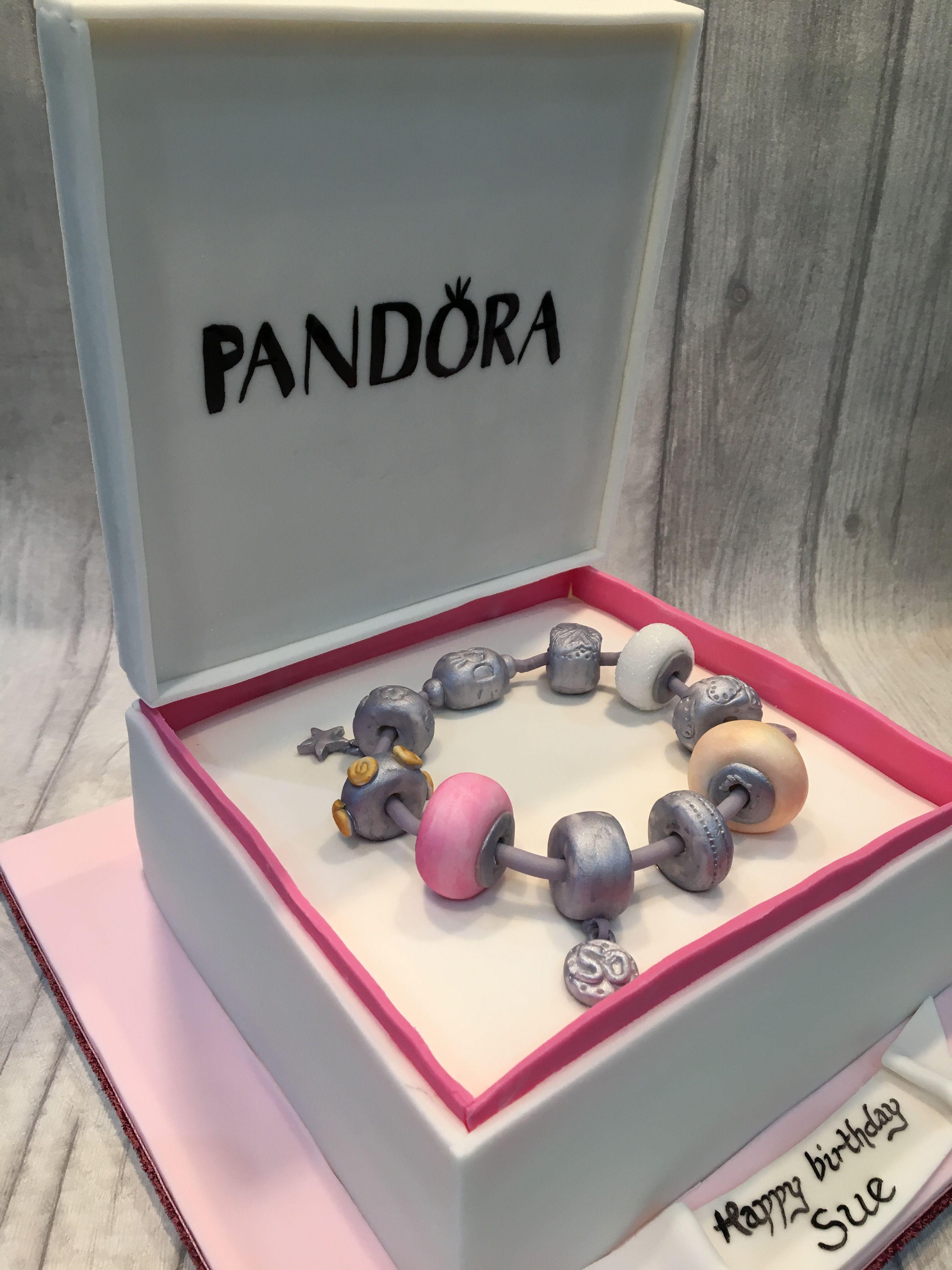 1f51b1d1b Pandora charm bracelet box cake | My Cakes in 2019 | Birthday cake ...