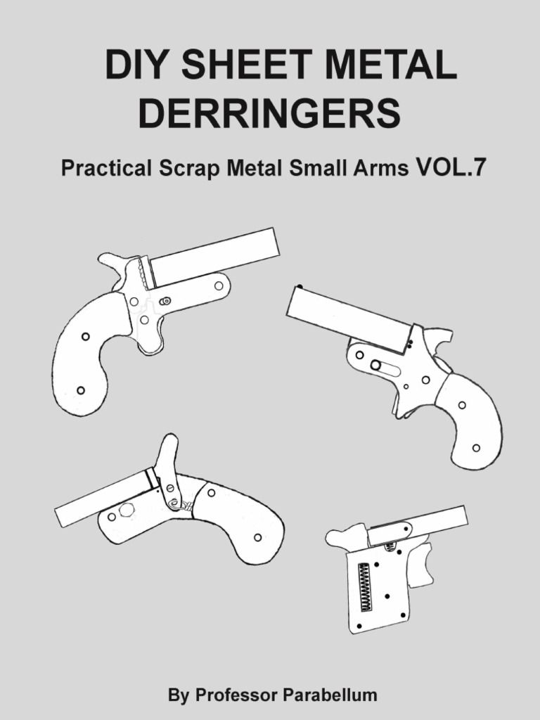 Homemade derringer pistol plans by Professor Parabellum | DIY
