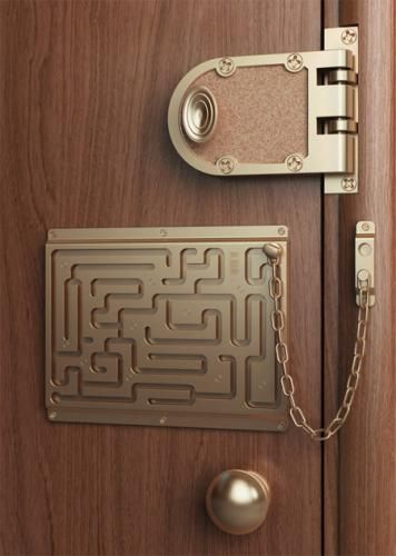 House Security Lock Labyrinth Security Door Chain Not Only Does It - Labyrinth-security-door-chain