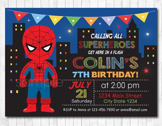 Invitación De Cumpleaños De Spiderman Fiesta De Spiderman