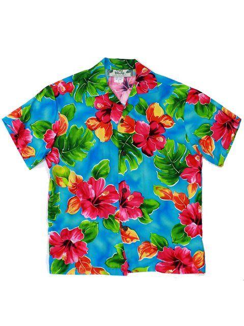 5c15289b0 TP 107R [Hibiscus Watercolor / Blue] Boys Hawaiian Shirt - Boys - Kids Wear  | AlohaOutlet SelectShop