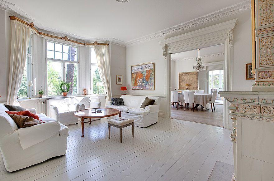 White Villa In Sweden Interior Design And Ideas Home Decorating 14