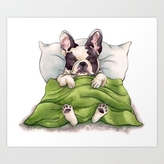 Bubba Sleeping Art Print By Bubba Heard Society6 Art Prints
