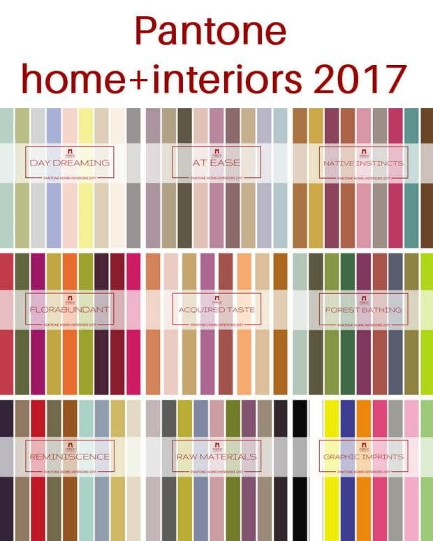 A more detailed look at pantone 39 s home interiors 2017 - 2017 pantone view home interiors palettes ...