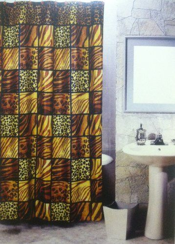 Save $25.00 On 5pcs Bath Rug Set Leopard Print Bathroom Rug Shower Curtain  Mat / Rings