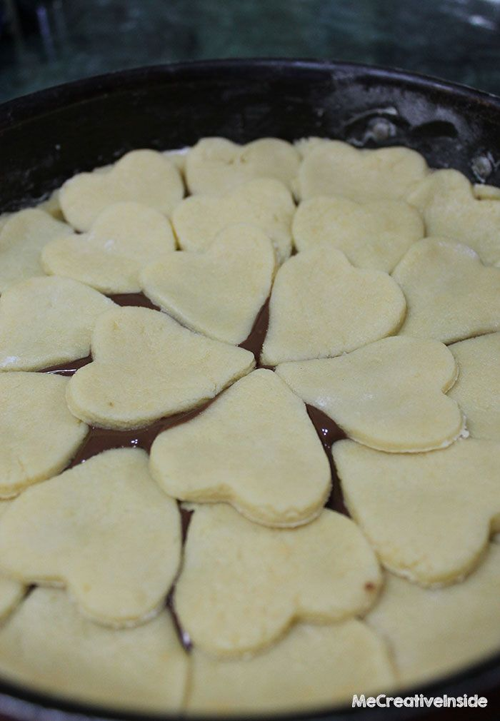 ME creativeinside ricetta crostata di cuori crema di nocciole