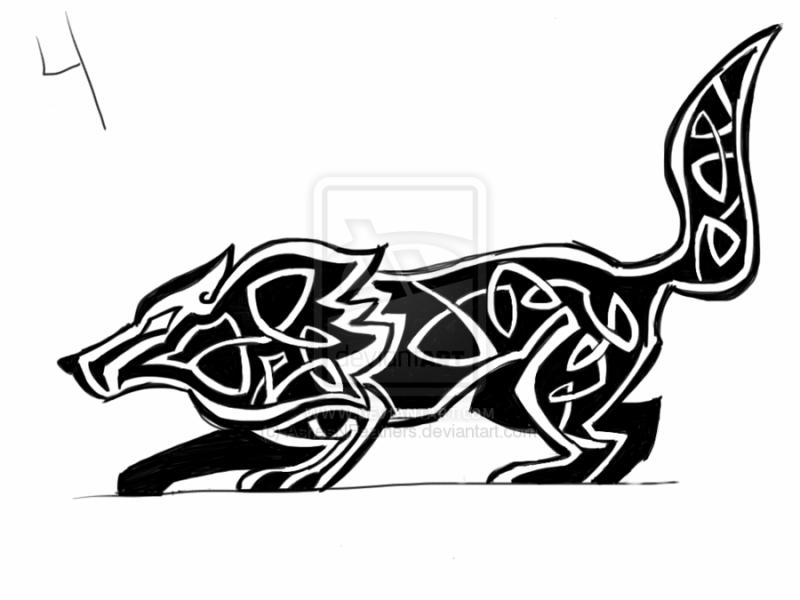 dessin tatouage loup celtic gs5e4 dessins tatouage. Black Bedroom Furniture Sets. Home Design Ideas