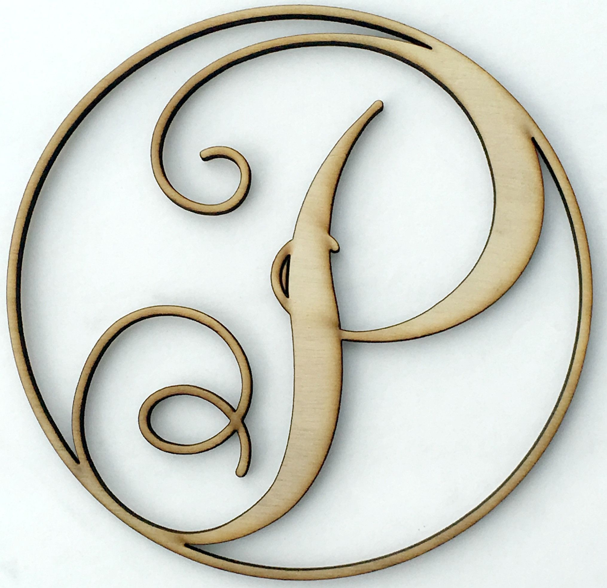 Wood Monogram Letters P Wooden Monogram Room Kitchen And