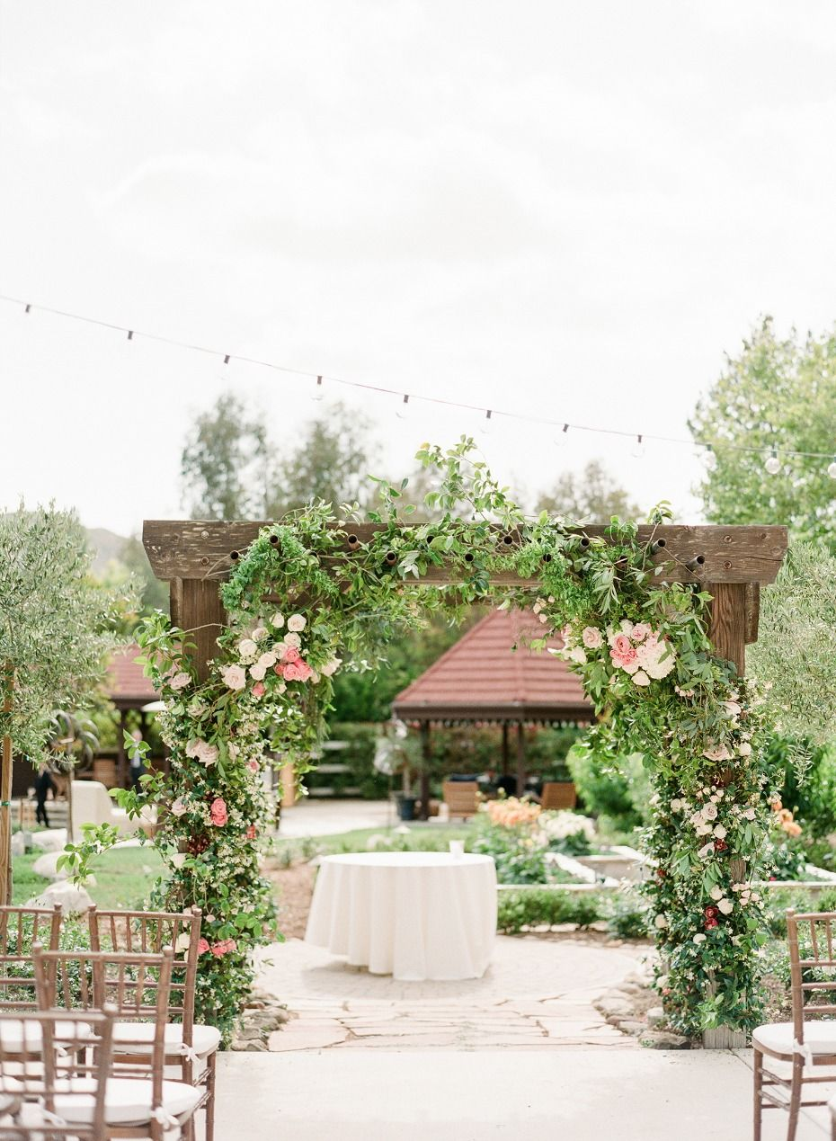 Chic Backyard Garden Wedding at their Family Home | Arbors, Wedding ...