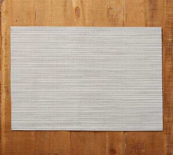 Easy Care Placemat Charcoal French Stripe Pottery Barn