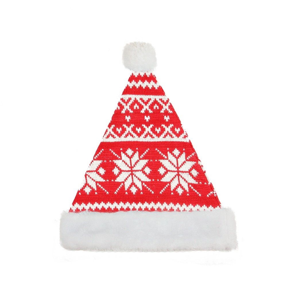 Northlight Traditional Red And White Plush Unisex Adult Christmas Santa Hat Costume Accessory Large In 2020 With Images Santa Hat Nordic Snowflake Chic Christmas