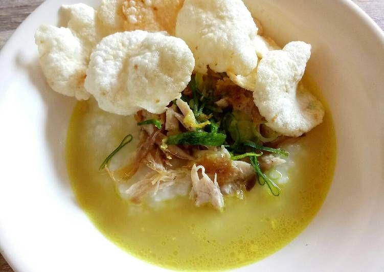 Resep Bubur Ayam Bumbu Kuning Oleh Catherine Ratih Resep Resep Makanan Ayam
