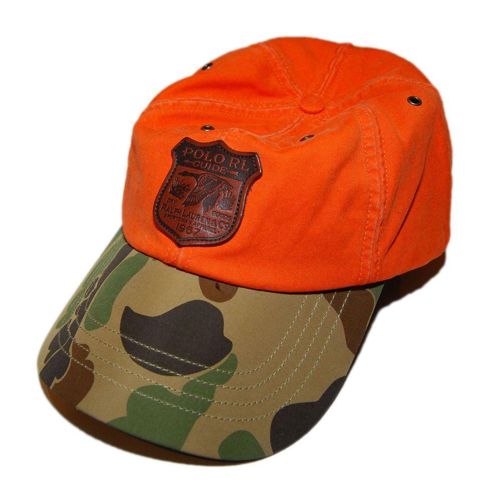 54c95278edd Polo Ralph Lauren Mens Corduroy Baseball Hat Duck Hunting Orange Army Green  Camo (eBay Link)