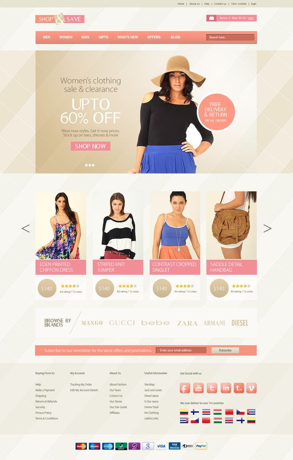 eCommerce Website by Raghukumar , via Behance | Website References E ...