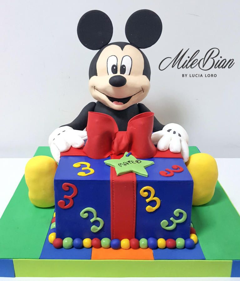 Mickey Mouse 3d Cake By Milebian Birthday Cake Kids Mickey Mouse Cake Boy Birthday Cake