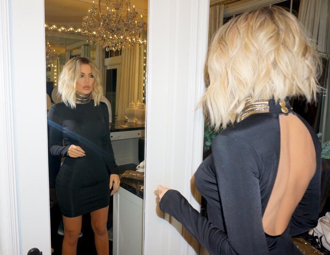 Khloe Kardashian Got A Platinum Blonde Bob And We Are Seriously Feeling It Khloe Hair Kardashian Hair Khloe Kardashian Hair