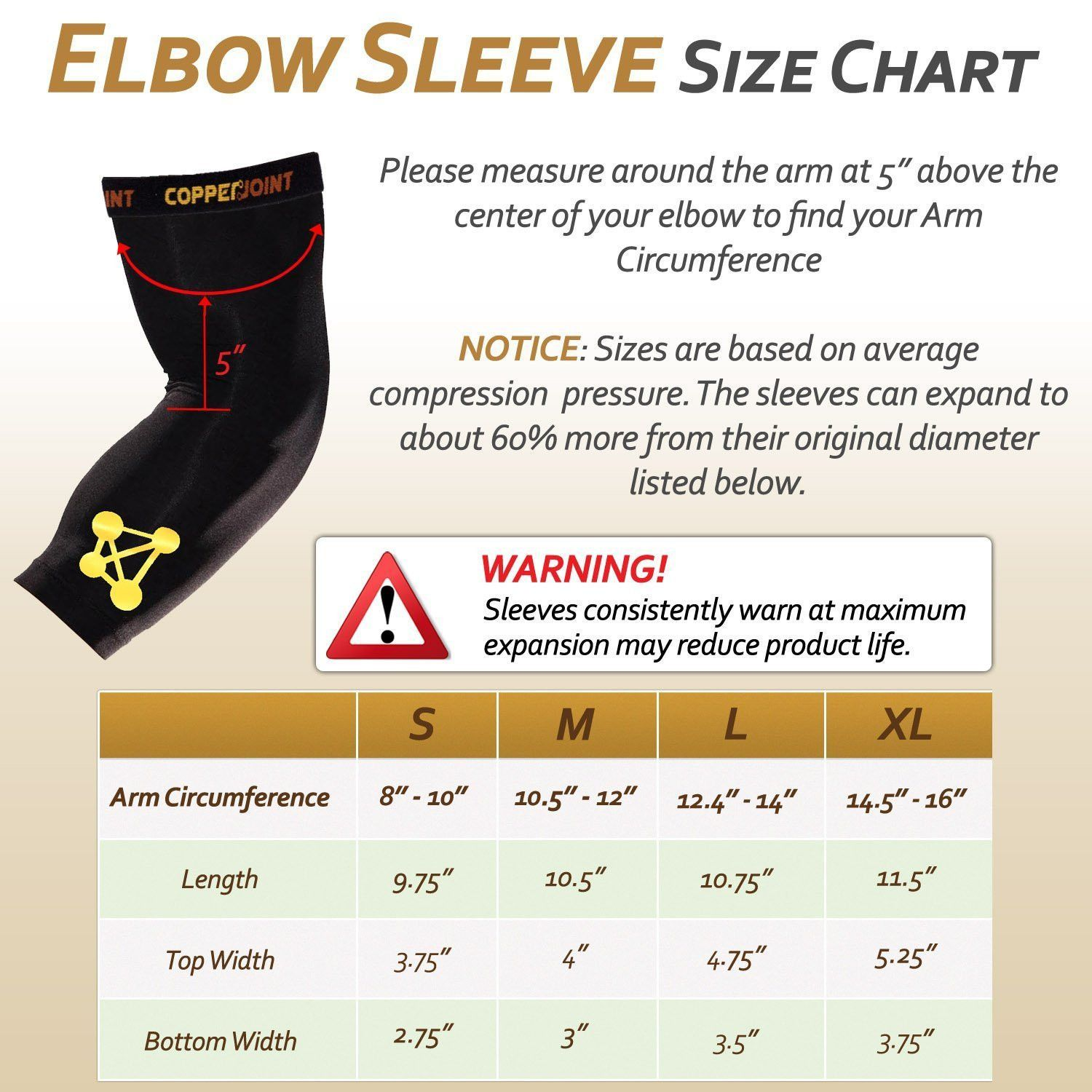Copper compression elbow sleeve sitename