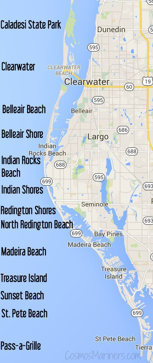 Clearwater Florida Map.A First Timer S Guide To St Pete Beach Florida Where To Visit