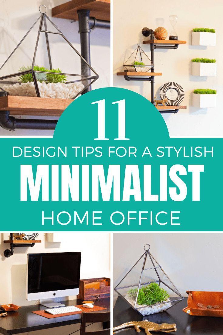 minimalist home office organization