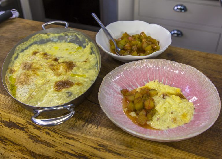 Clotted Cream Rice Pudding with Rhubarb Compote   James ...