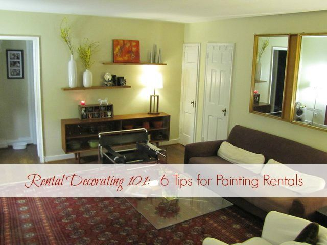 Two Bedroom Apartments For Rent Stunning Rental Decorating 101 6 Tips For Painting Rentals  Apartment Decorating Design
