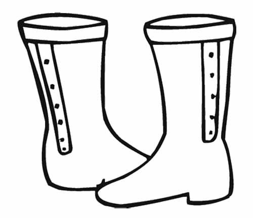 A Winter Boot Coloring Page With Images Coloring For Kids