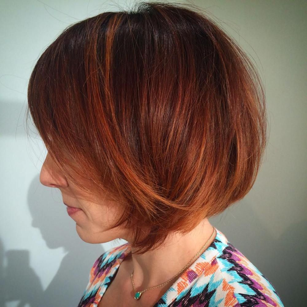 winning looks with bob haircuts for fine hair red balayage