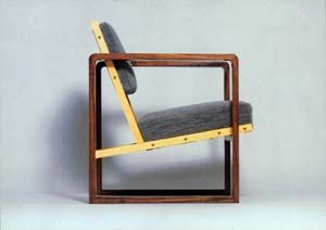 Josef Albers - 1928 - walnut and maple veneer with fabric