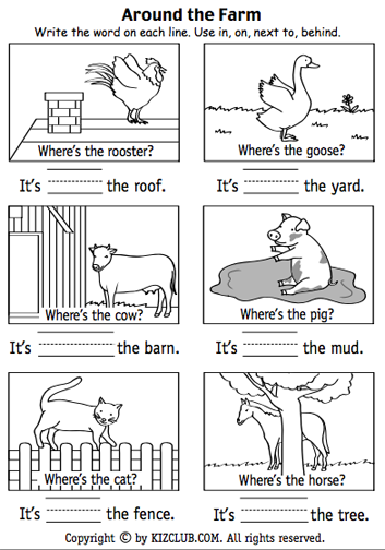 Pin By Tricia Stohr Hunt On Positional Terms Preposition Worksheets Kindergarten Position Words Preposition Worksheets