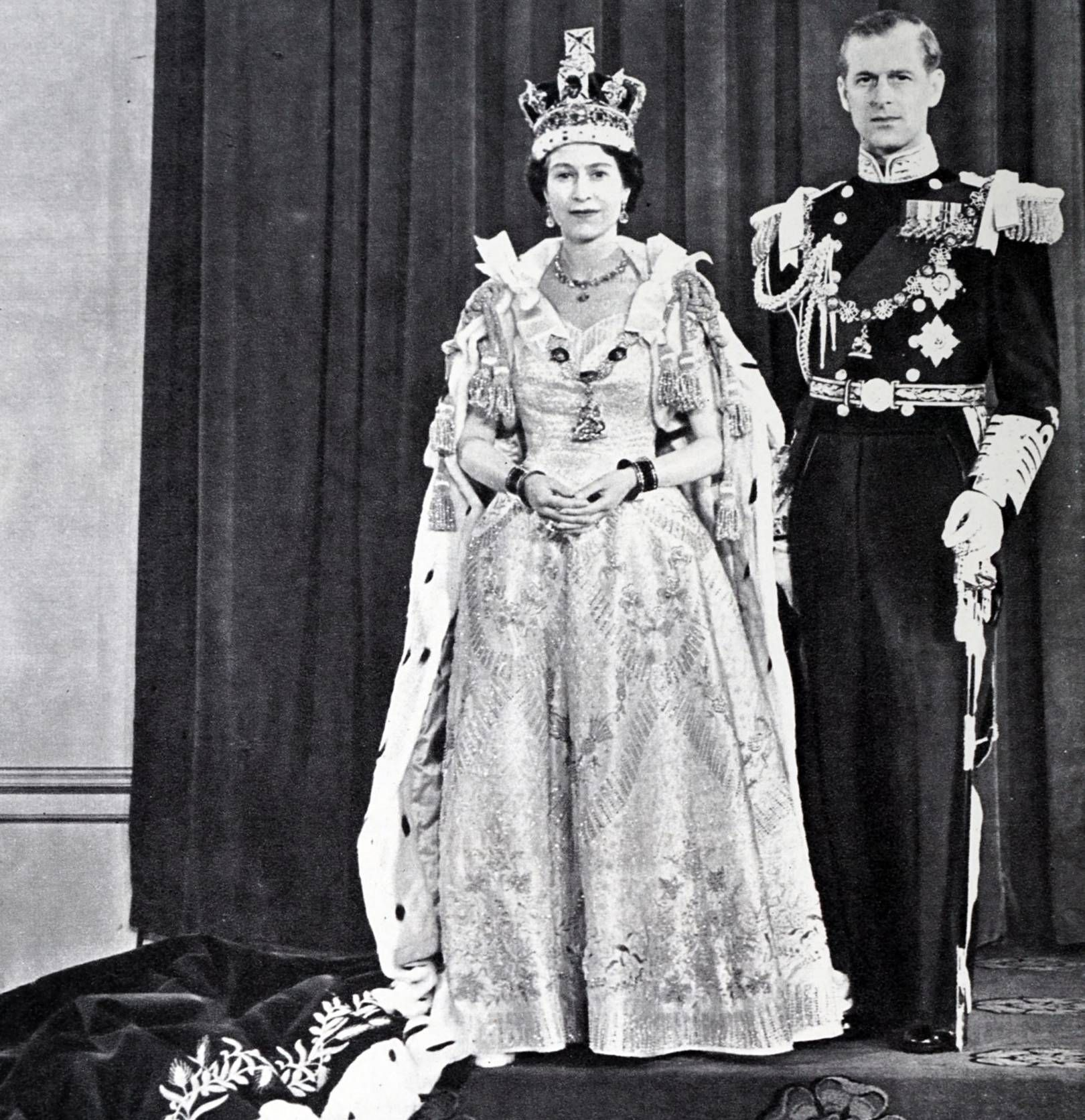The Queen's Coronation gown had its own suite on the royal