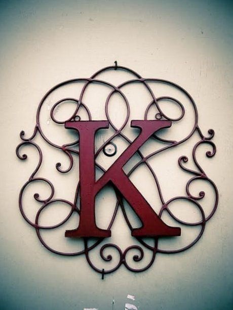 Such A Cute Way To Combine Your Initials And Wire Decorations Iron Decor Wrought Iron Decor