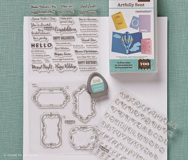 The wait is over -- Cricut Artfully Sent Cartridge Collection available today!  www.Scrap with Sue.blogspot.com