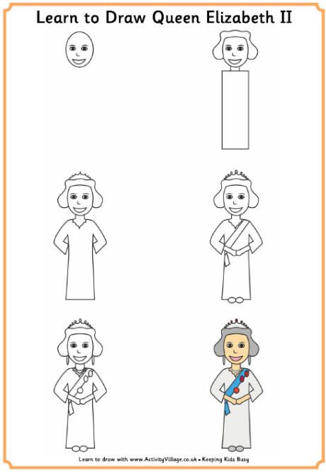 Learn To Draw The Queen Learn To Draw Queen Elizabeth Ii Creative