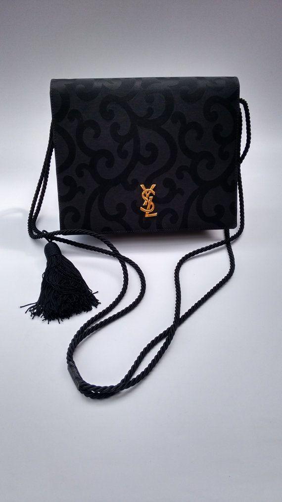 23822fefdf YSL Yves Saint Laurent Vintage Black Canvas and by Sophiashop123 ...