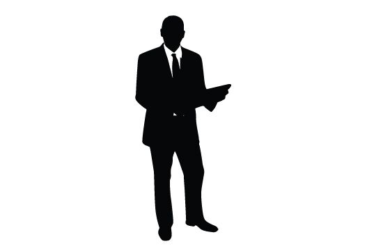 Business Man Silhouette Vector - Silhouette Clip Art ...