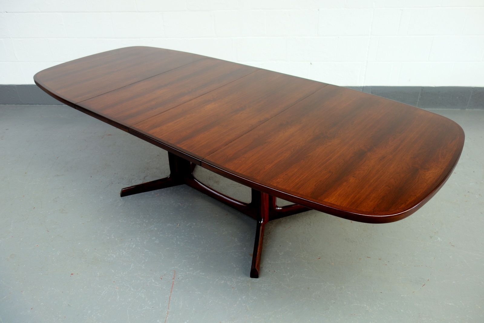 Mid Century Extending Danish Rosewood Dining Table By Niels