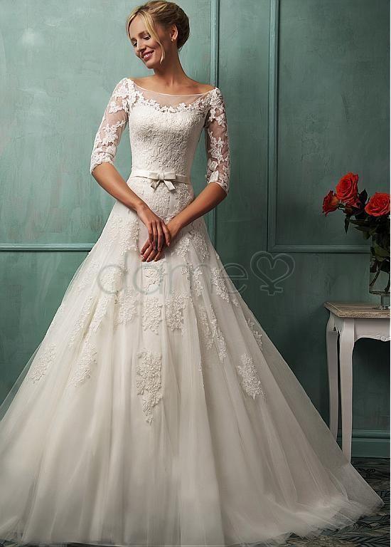 Hochzeitskleid creme tull