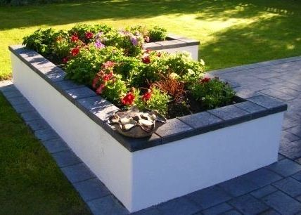 Plastered Cinder Blocks And Stone Paver Caps With Images