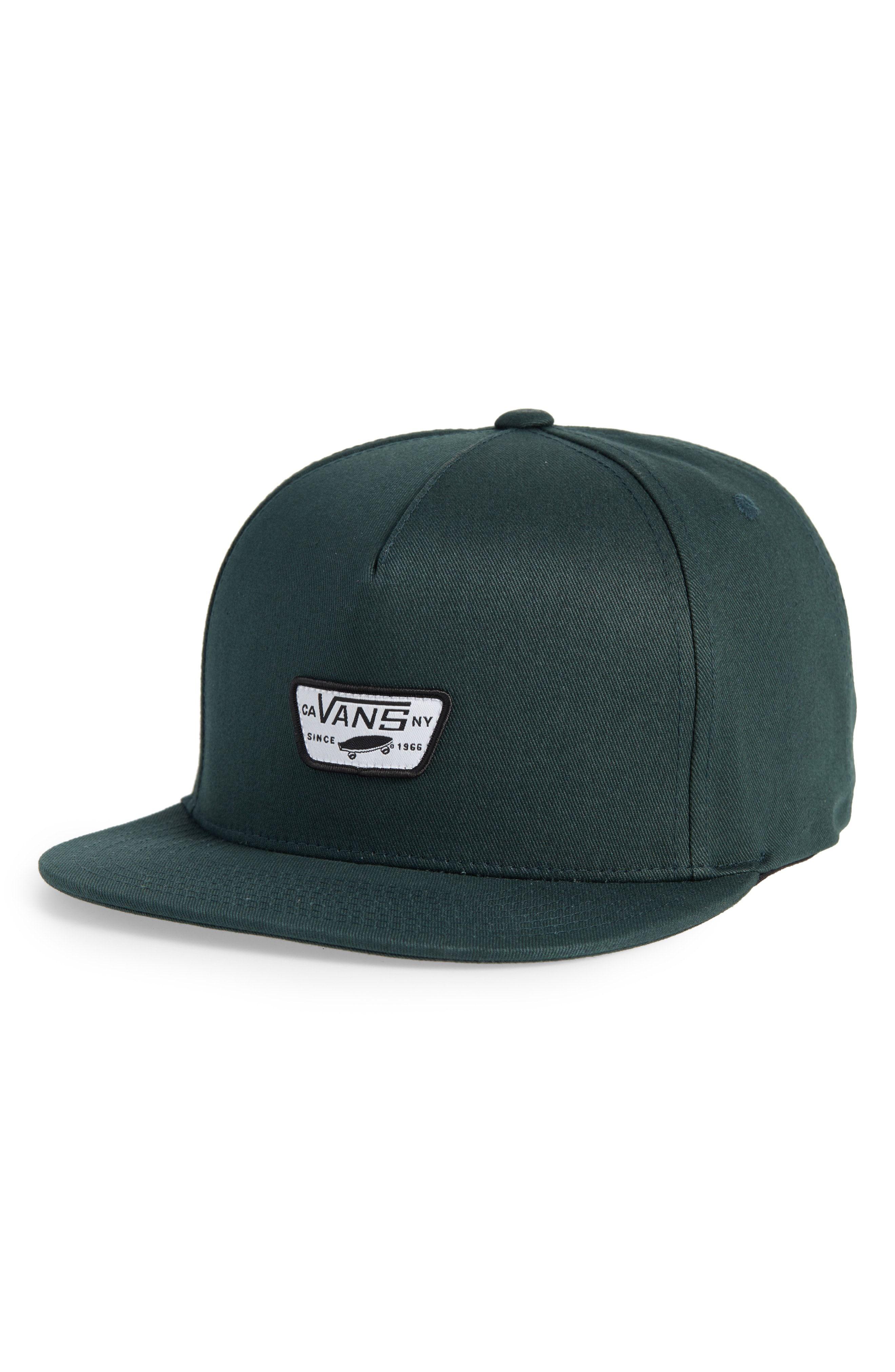 VANS MINI PATCH II SNAPBACK CAP - GREEN.  vans  f81c4be3fc0