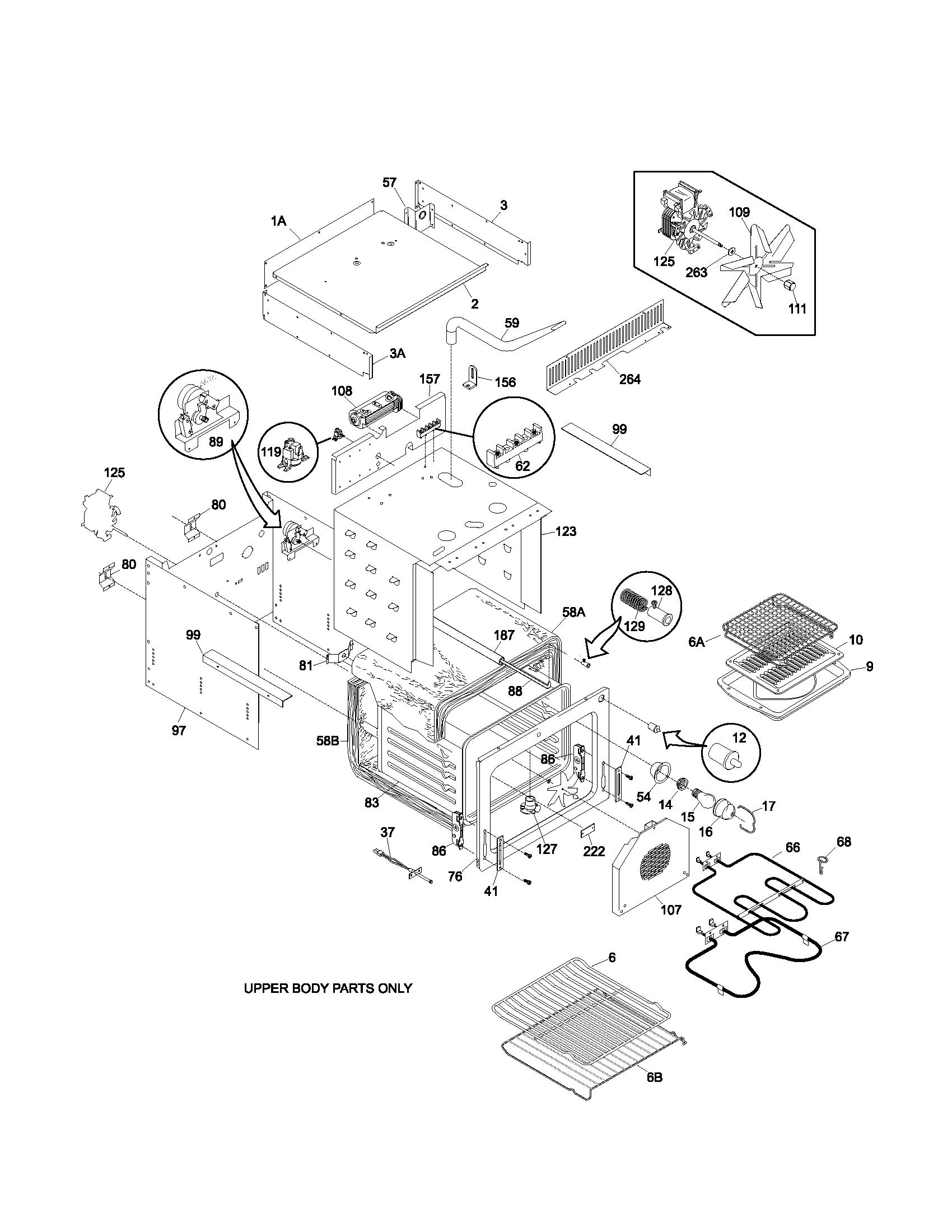 Frigidaire Electric Oven Model Pleb27t8aca Upper Oven