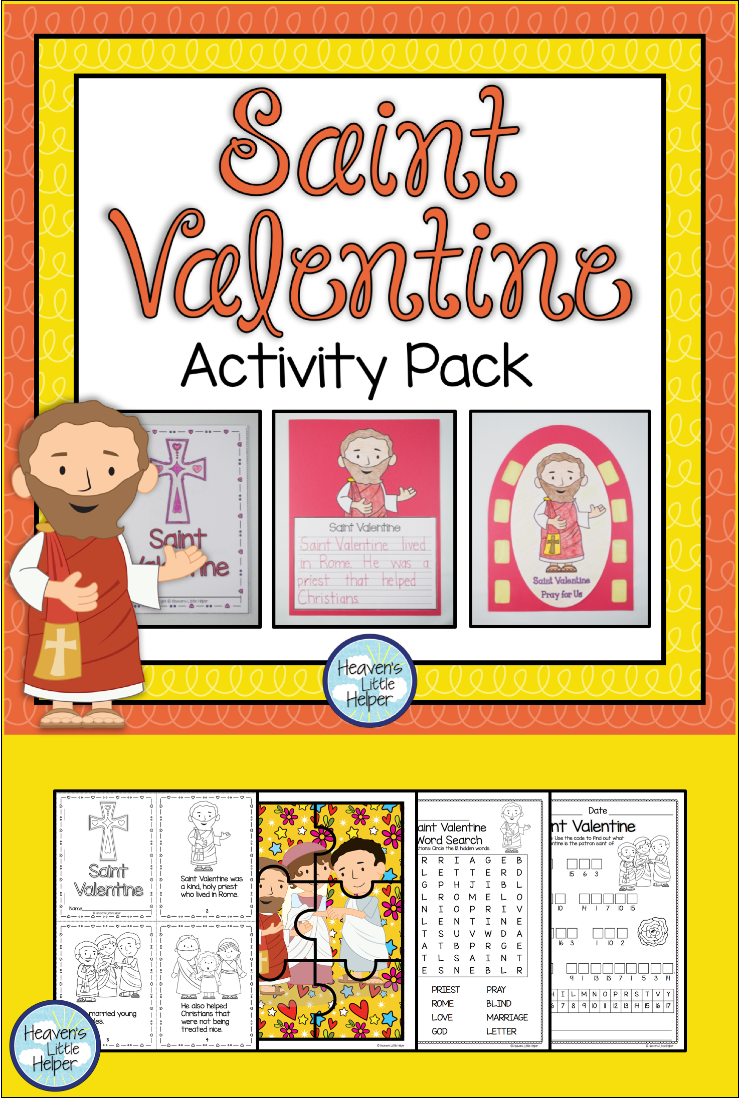 Printable Resource To Help Catholic Kids Learn About Saint