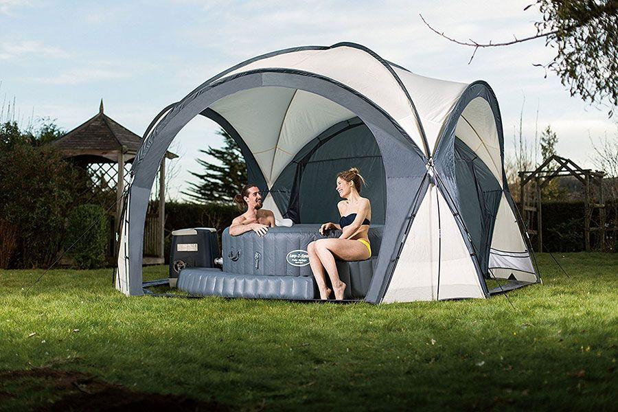 Lay-Z-Spa Hot Tub u0026 Pool Dome Enclosure Gazebo Review & Lay-Z-Spa Hot Tub u0026 Pool Dome Enclosure Gazebo Review | Inflatable ...