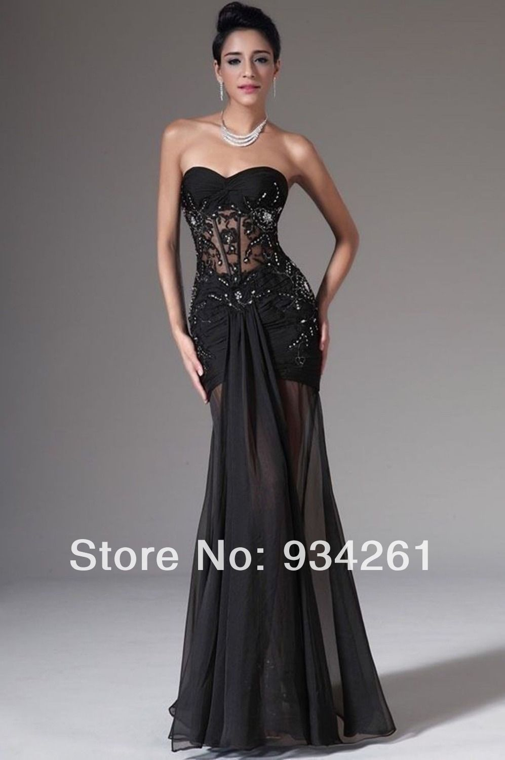 Long dresses to wear to a wedding  Sexy Black Cocktail Dress Party Formal Evening Ball Prom Dresses