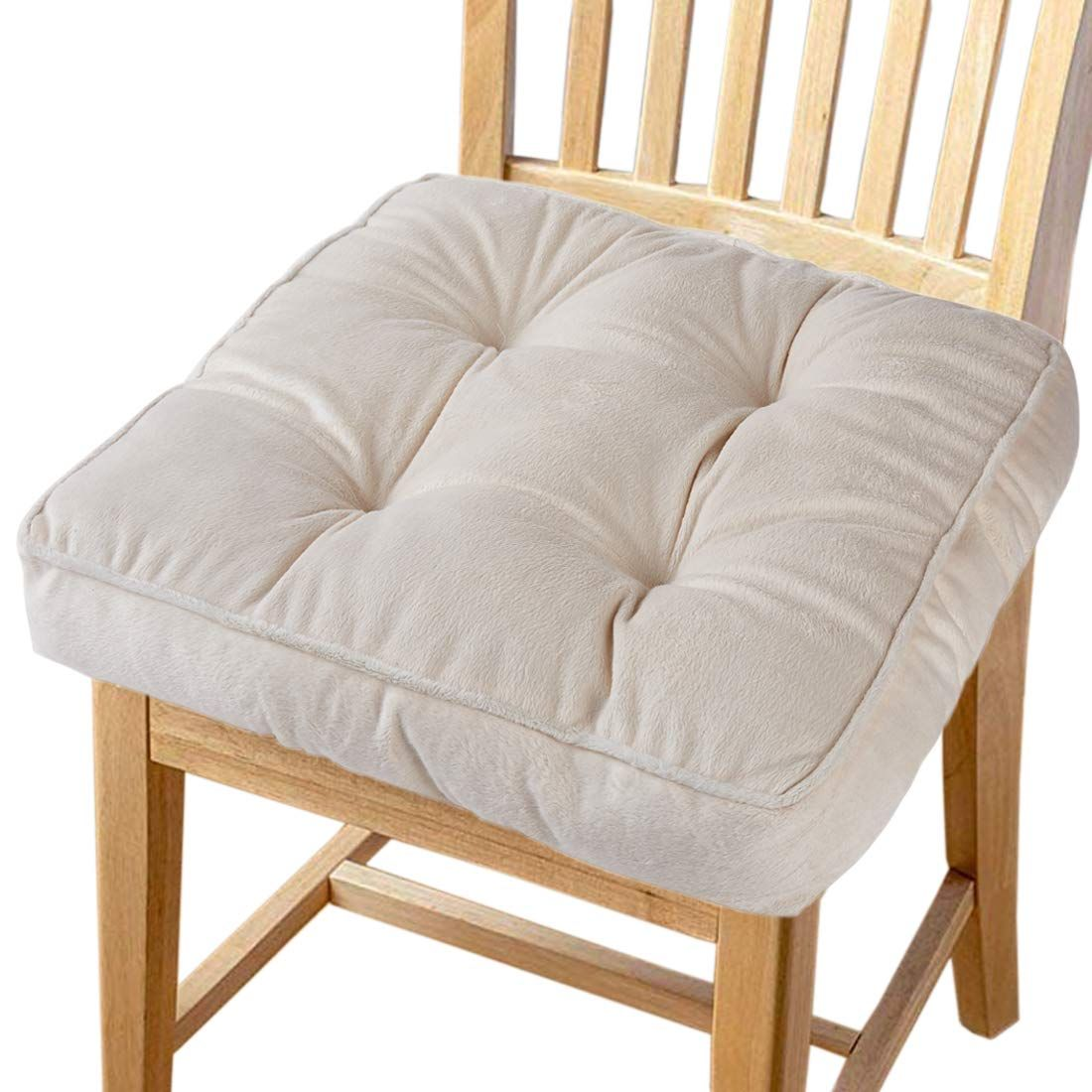Big Hippo Chair Pads Square Cotton Chair Cushion with Ties Soft