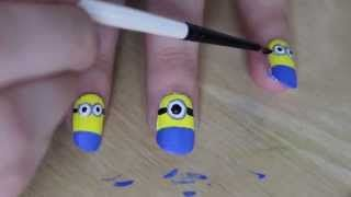 I created a nail tutorial of the minions! Inspired by the upcoming release of Despicable Me 2!