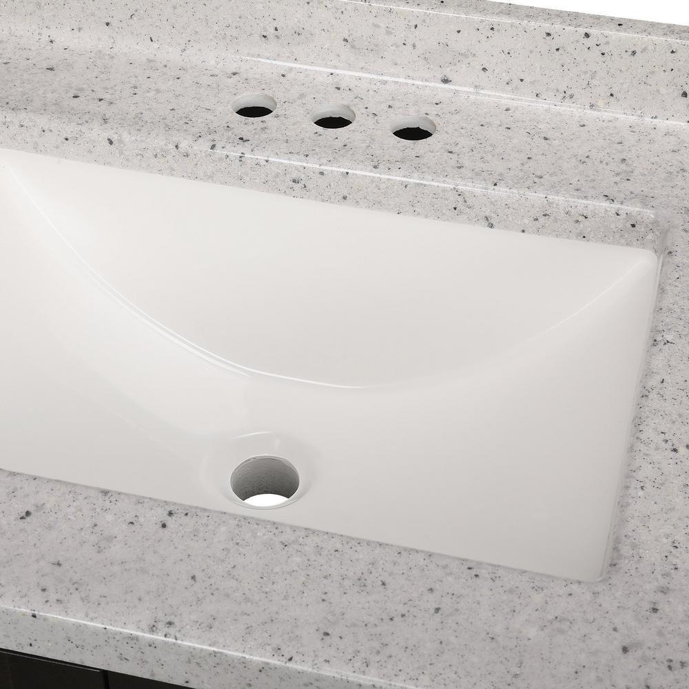 Glacier Bay Northwood 36 In W X 19 In D Bathroom Vanity In Dusk
