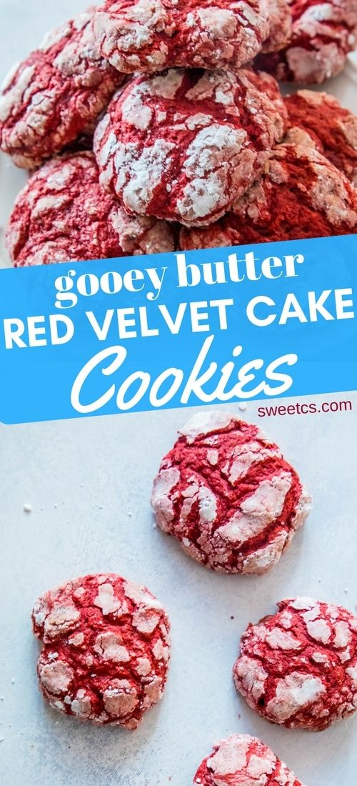 """Gooey Butter Red Velvet Cake Cookies are delicious, easy, soft and perfect for parties or when you need a treat quick – made from red velvet cake mix!  I love quick and easy cookies during the holidays – anything that is simple, quick, and delicious to bring to friends and help celebrate the season! … Continue reading """"Gooey Butter Red Velvet Cake C"""
