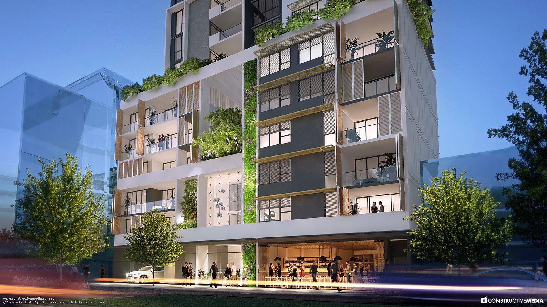Verdant Apartments Perth 3d Visuals Property Green Apartment