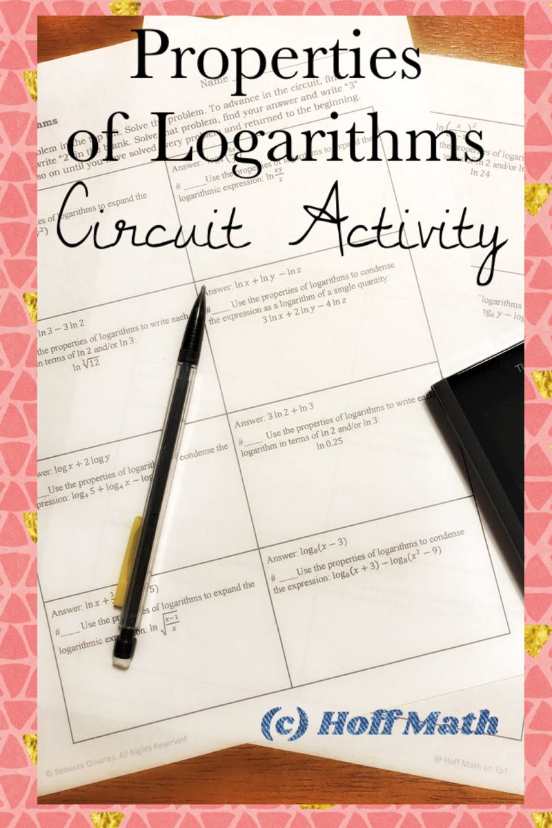 Properties of Logarithms CIRCUIT ACTIVITY in 2020