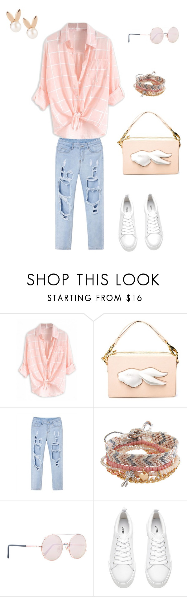 """""""White Sneakers"""" by melisastephens ❤ liked on Polyvore featuring Andres Gallardo, Aéropostale, Sunday Somewhere, Aamaya by priyanka and whitesneakers"""